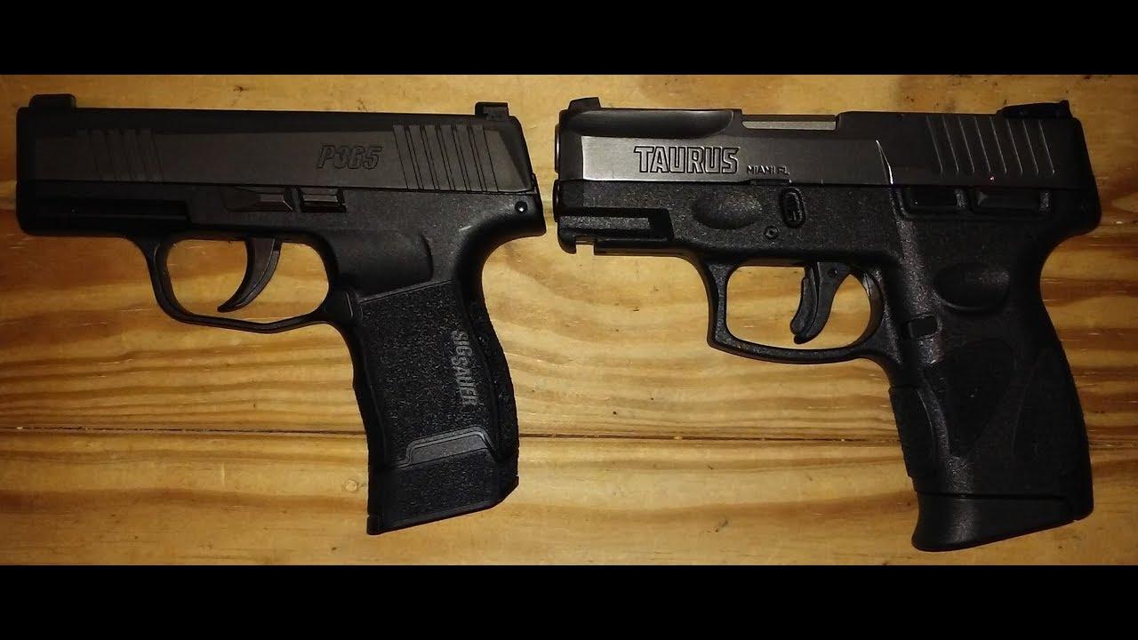 Sig P365 vs Taurus G2C