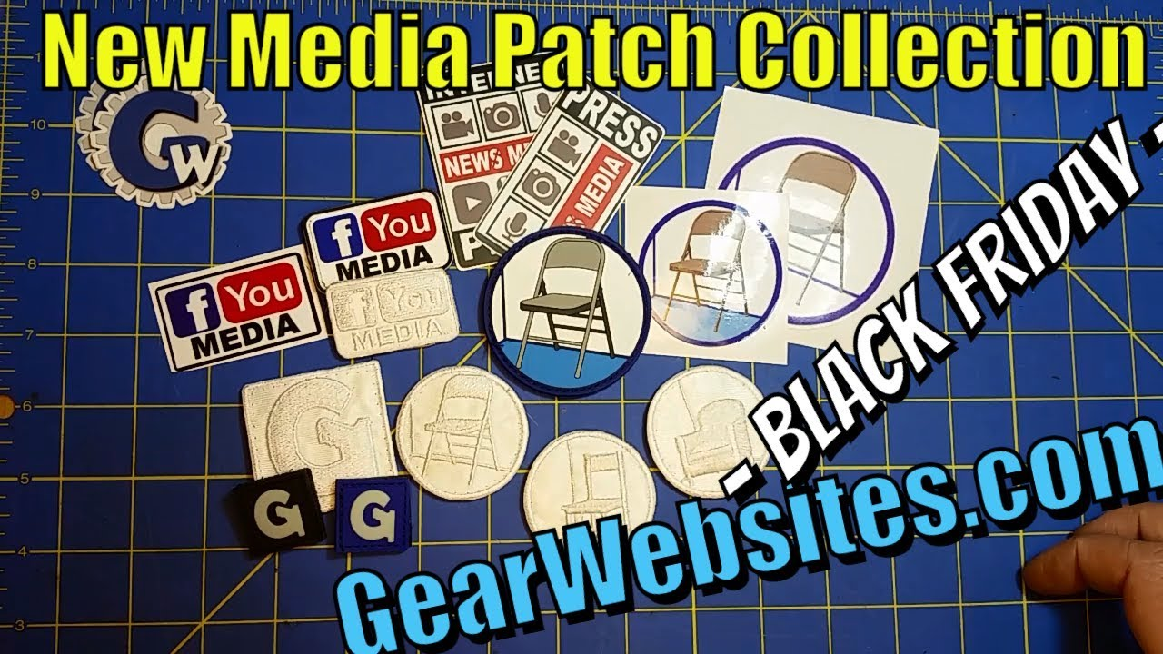 GearWebsites.com - Black Friday - New Media Patch Collection Giveaway