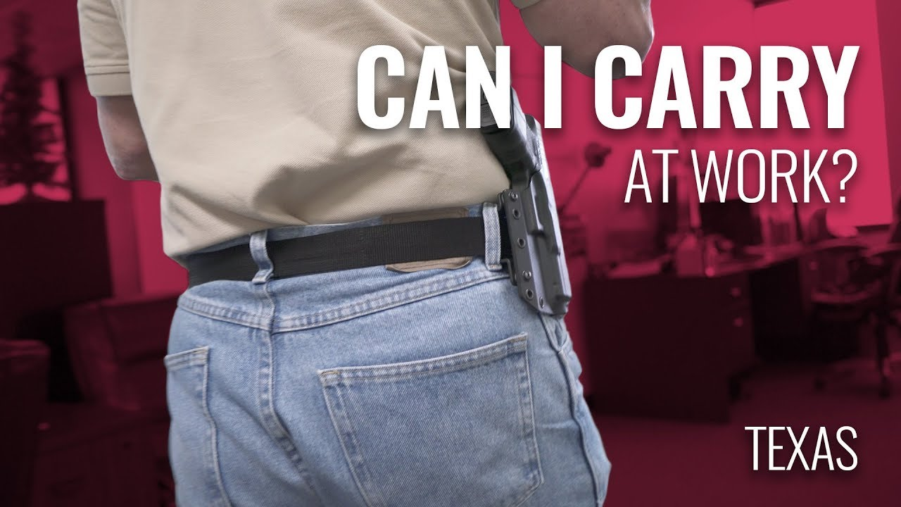 Can I Carry at Work in Texas?