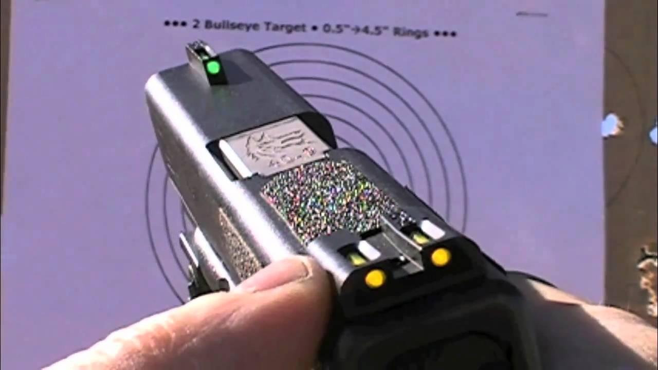 Reviewing TRUGLO Tritium / Fiber Optic Sights - Day Shoot