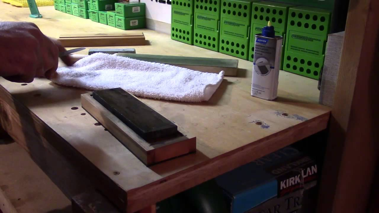 Sharpening The New Carbon Steel Hunting Knife, Finishing Touch