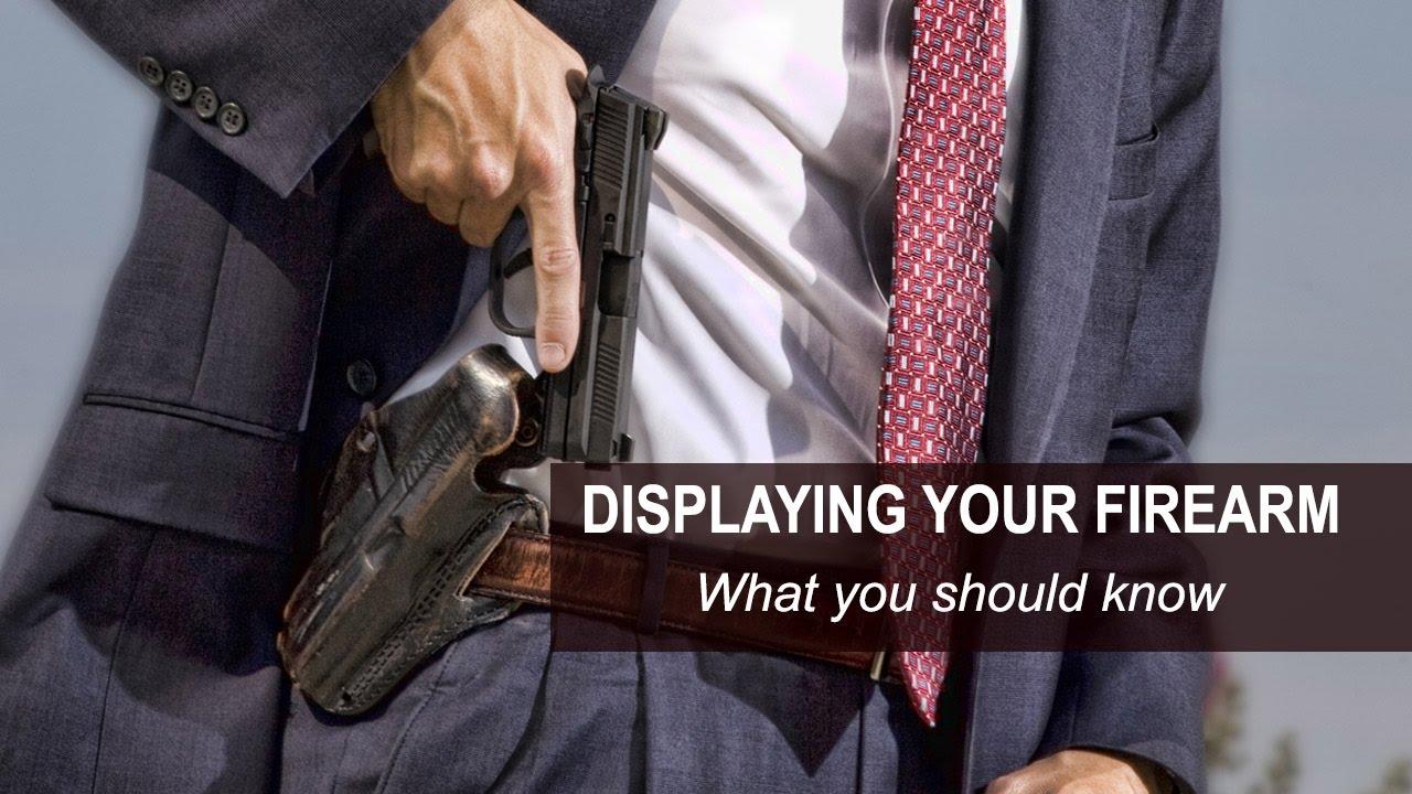 Displaying Your Firearm in Pennsylvania