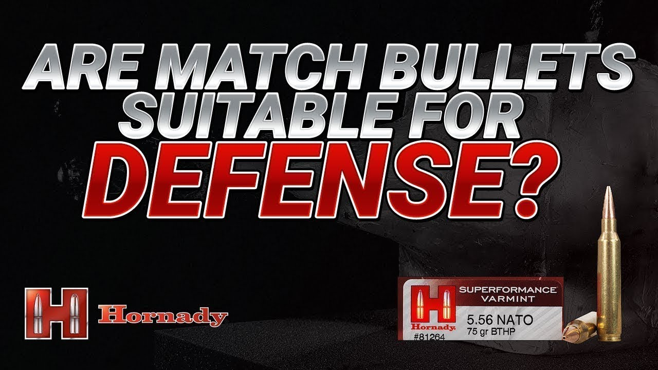 Are Match Bullets Suitable for Defense? Hornady 75gr BTHP Gel Test