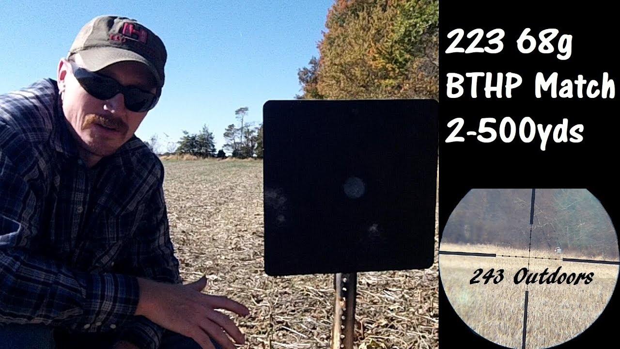 223 68g BTHP Match 2-500 Yards
