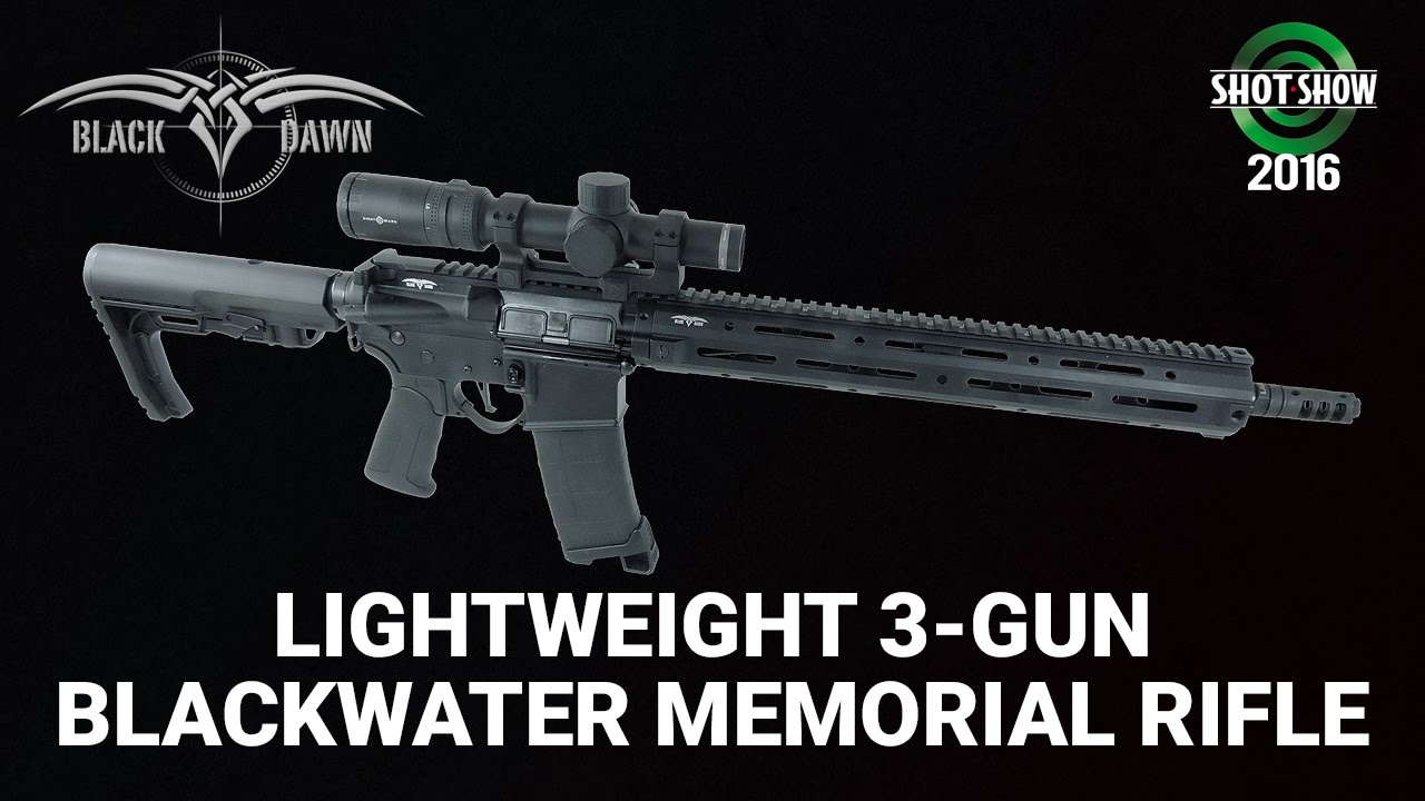 Black Dawn Lightweight 3-Gun Blackwater Memorial Rifle - SHOT Show 2016