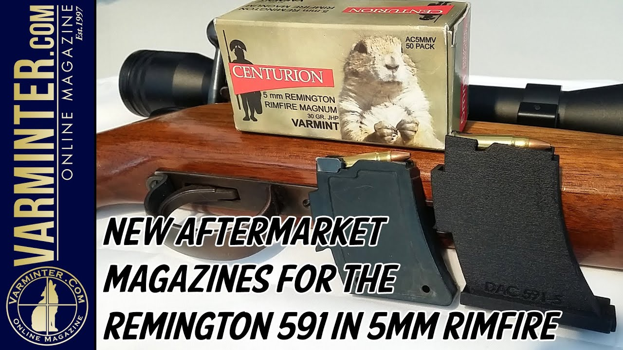 New Aftermarket Magazines for the Remington 591 in 5mm Rimfire
