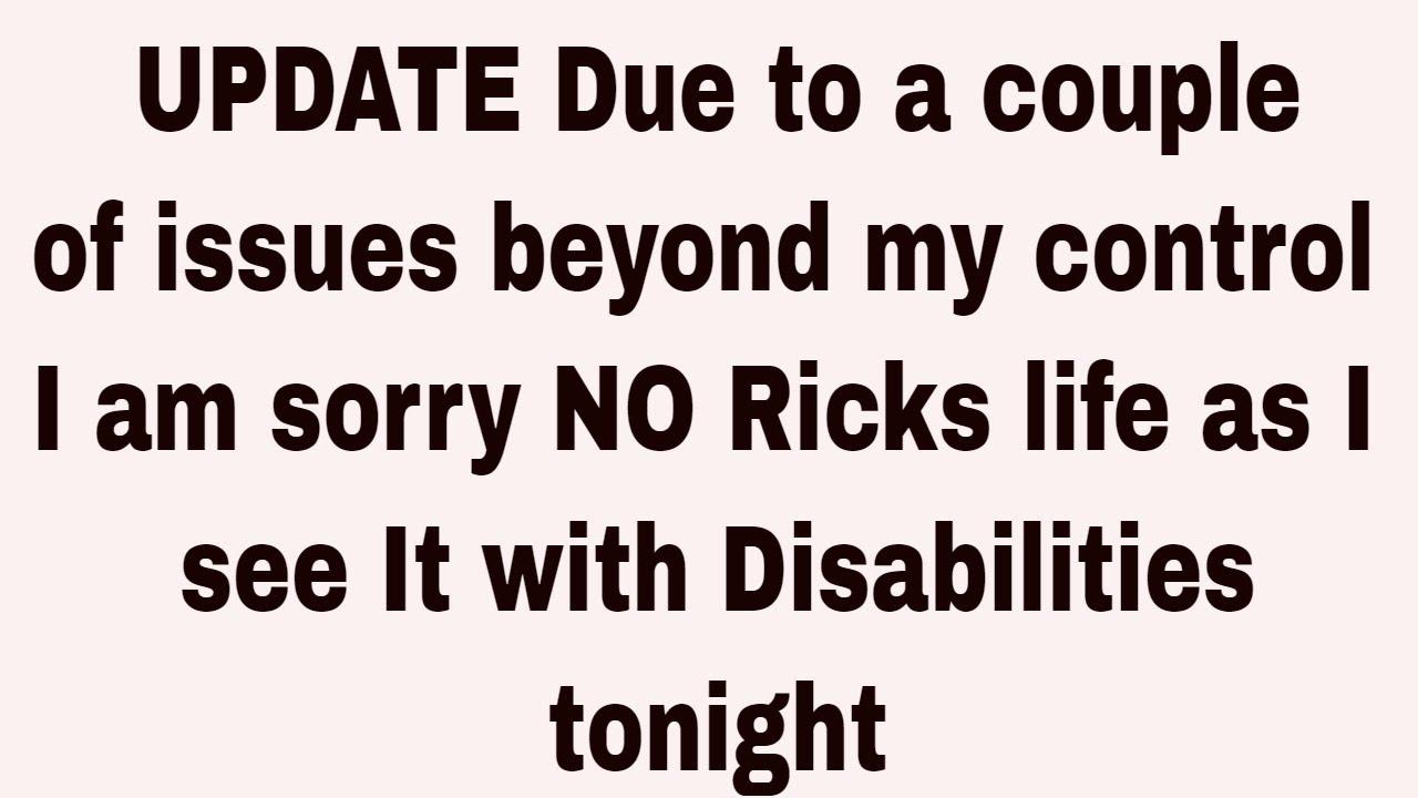 Rick's Life as I see it!!!