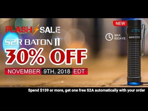 NEW Olight S2R Baton II FLASH SALE
