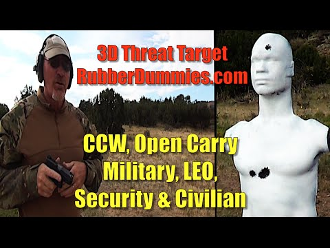 â–ˆ▬â–ˆ â–ˆ ▀█▀ - Way Better than paper targets - 3D Threat Rubber Dummy Range Review