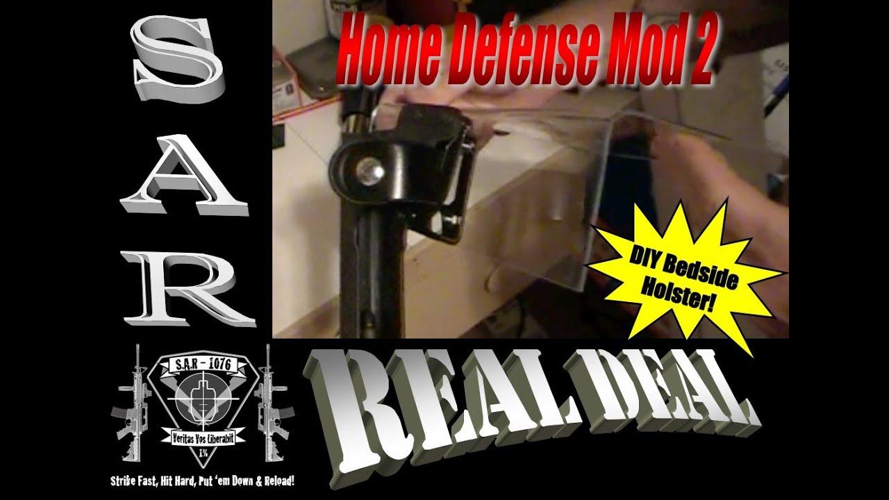 DIY Firearm Staging Mod 2: Easy Bedside Pistol Holster for Cheap