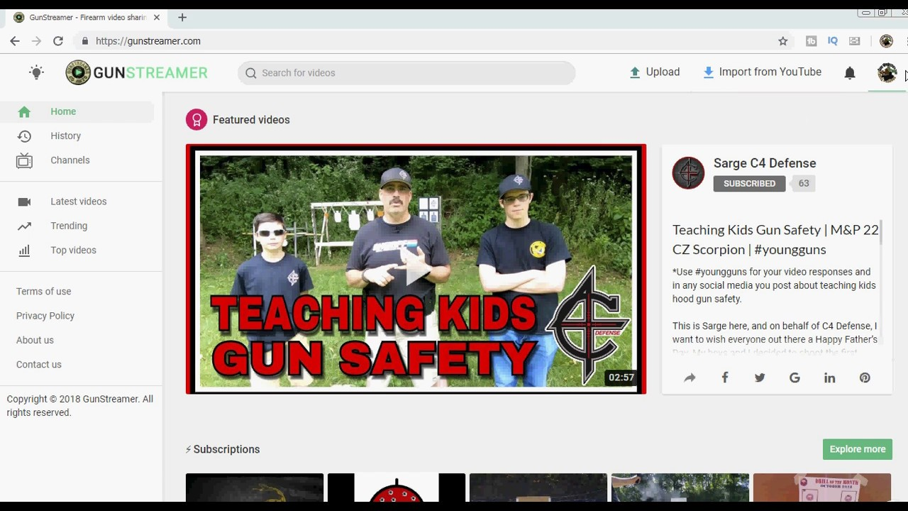 Gun Streamer.com -  New Layout - Better 2A Video Platform