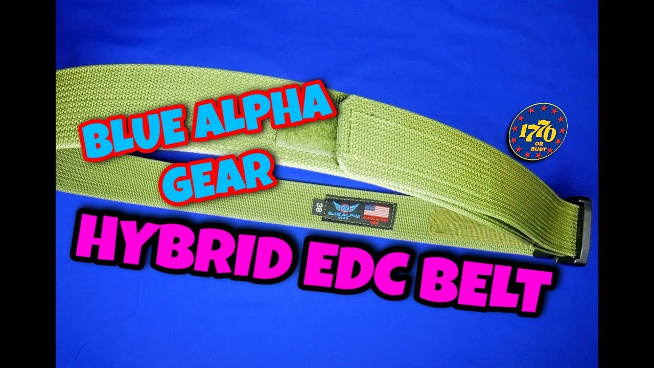 EDC BELT: BLUE ALPHA GEAR  HYBRID EDC BELT