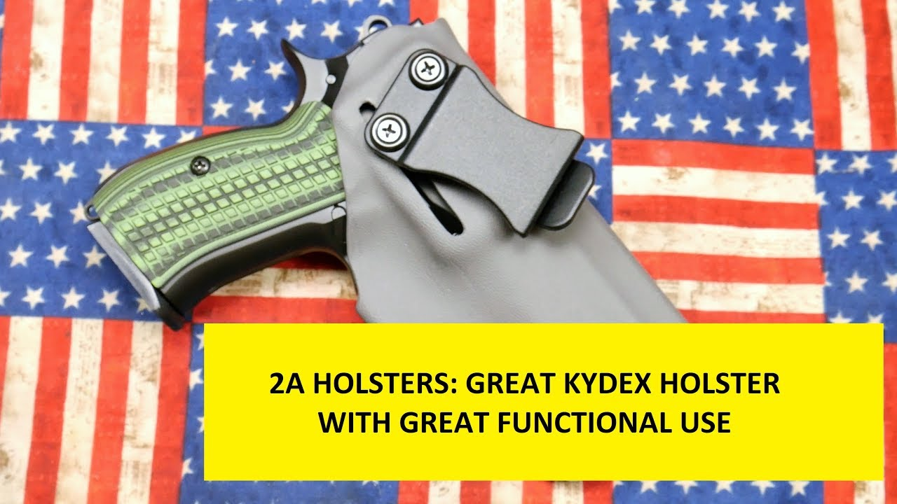 2A Holsters: IWB Kydex with great customization.