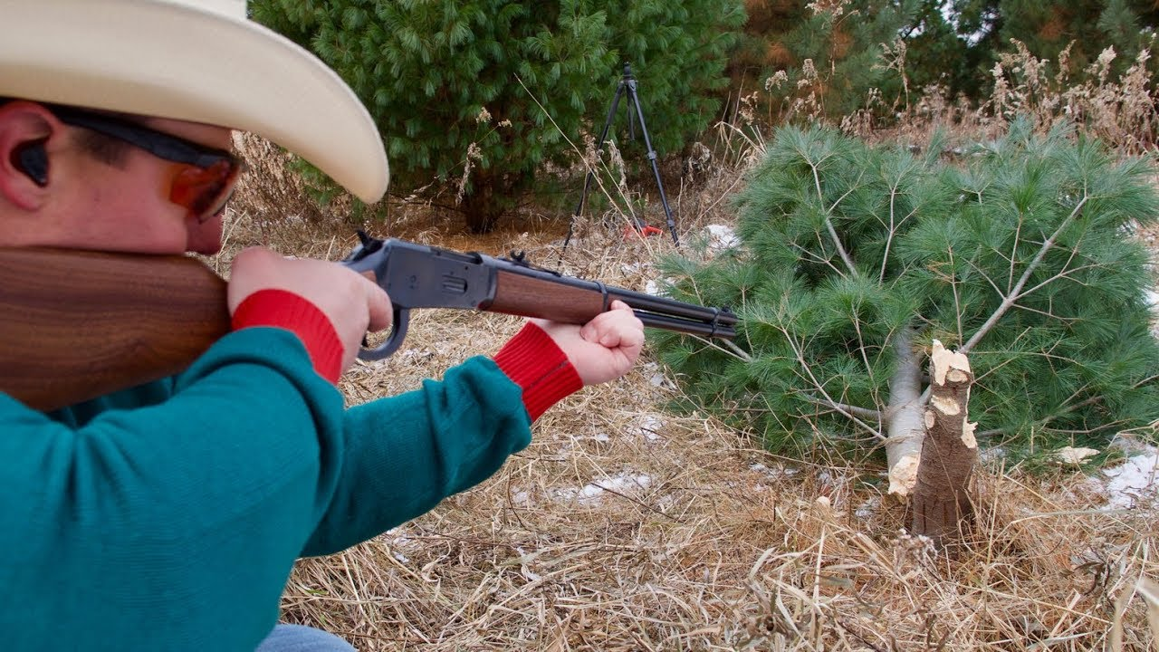 30.30 Rifle vs Christmas Tree 🎄How Many Shots Will it Take? | Gould Brothers