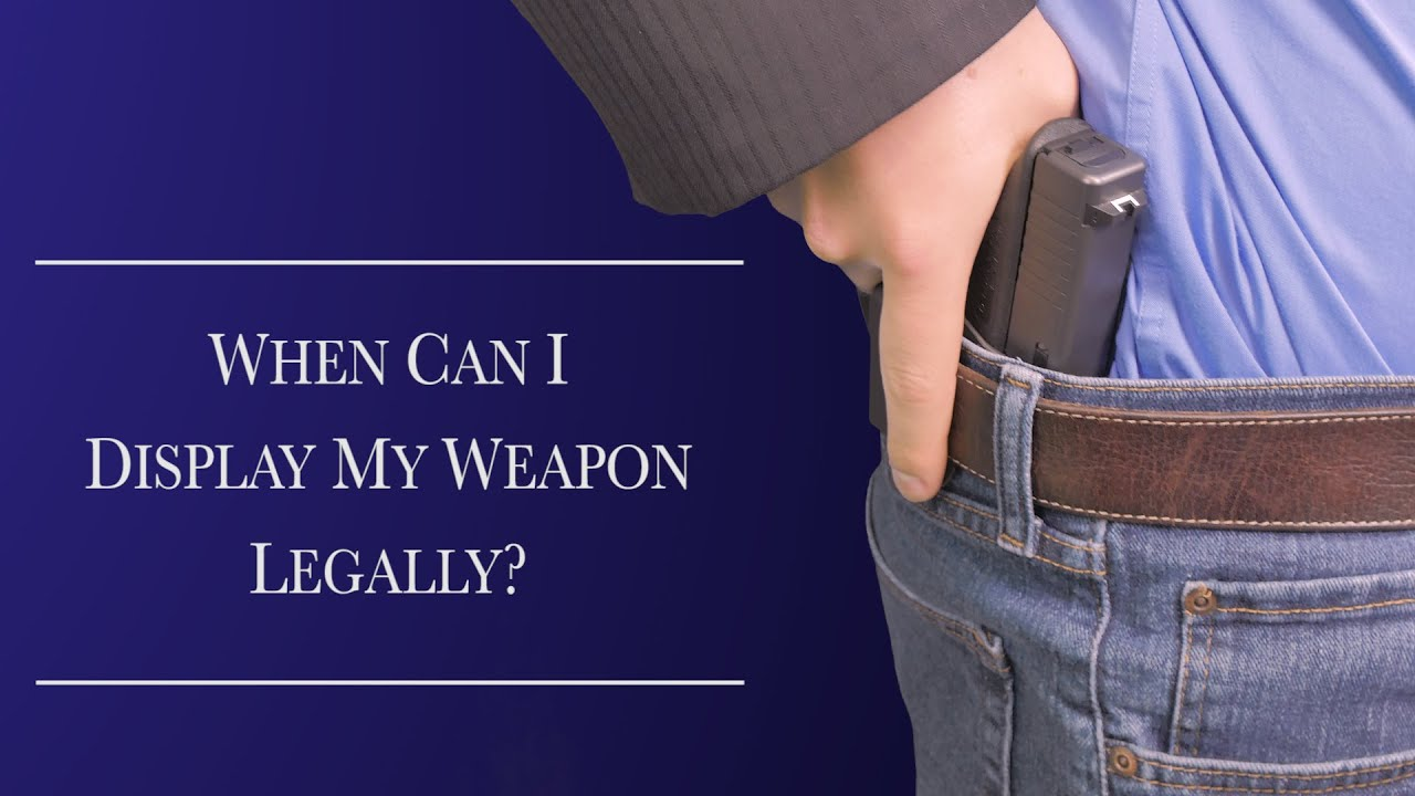 When can I display my weapon legally?  -Florida