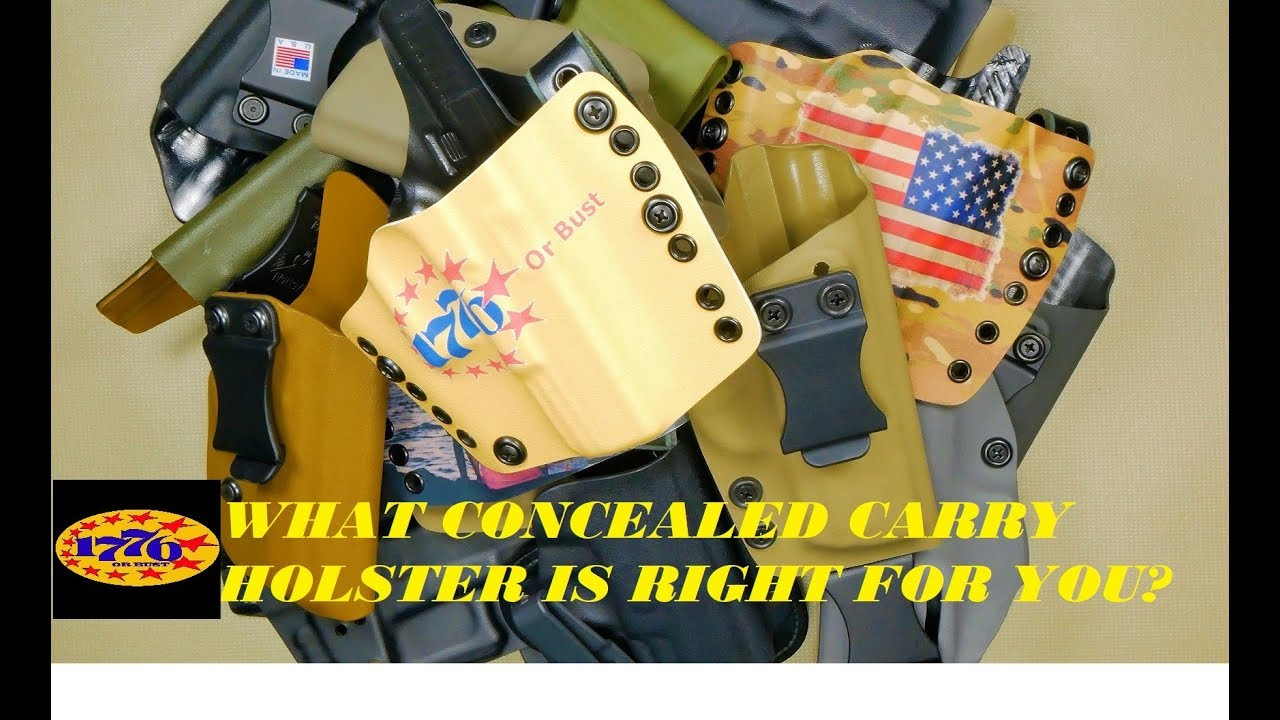 CONCEALED CARRY HOLSTERS: WHICH ONE IS RIGHT FOR YOU?