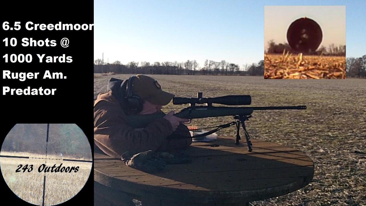 6 5 Creedmoor At 1000 Yards w/ Ruger American Predator