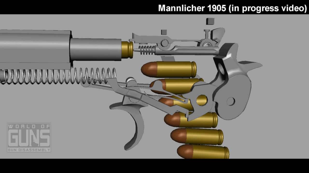 Mannlicher 1905 pistol (in progress video)