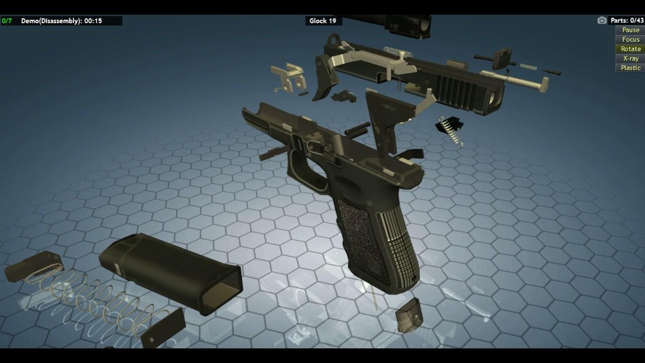 Glock 19 disassembly demo