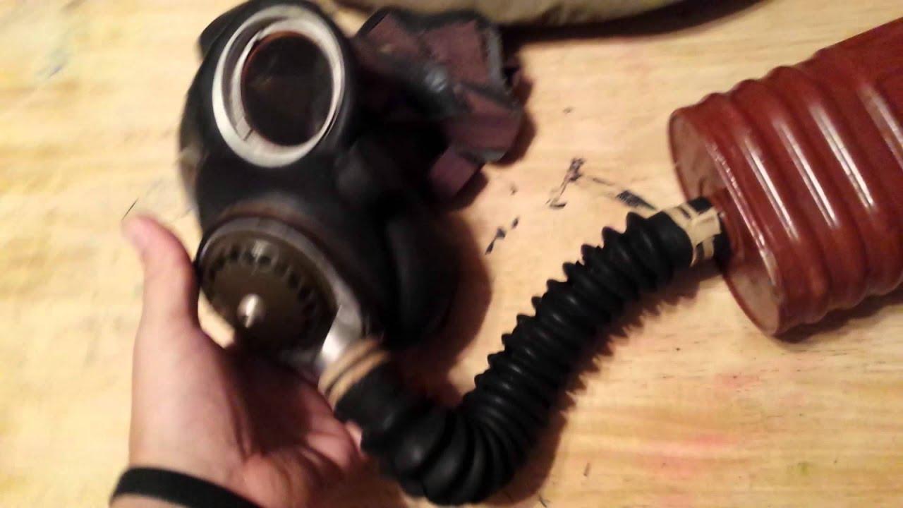 OTF Switch Blade & 1942 Gas Mask, yard sale score!