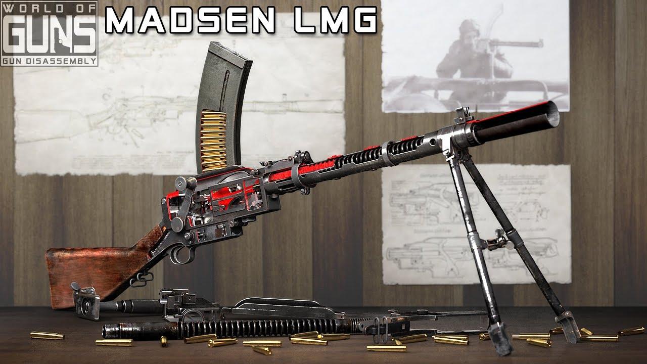 How does Madsen machine gun work?