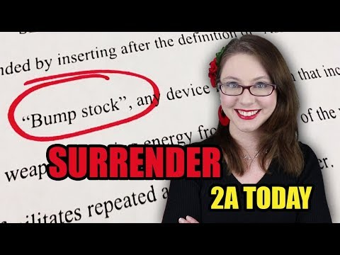 Surrender Your Bump Stocks! (Or Else) | 2A Today