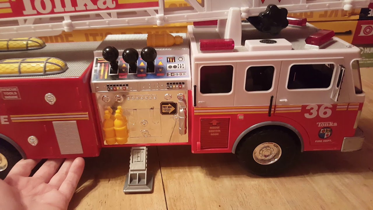 Tonka #36 03473 Fire Rescue Toy Truck