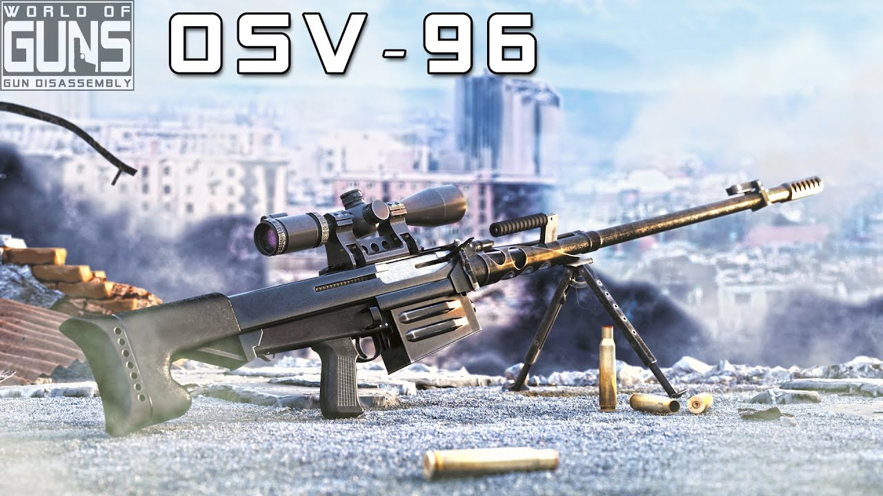 How does OSV-96 anti-materiel rifle work?