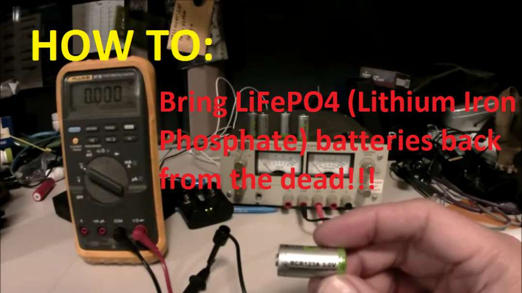 Necromancing - Bringing Dead Rechargable Lithium Batteries Back to LiFe!