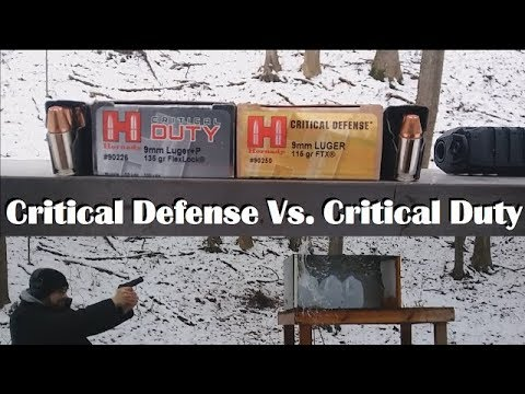 Hornady Critical Defense Vs. Critical Duty in 9mm