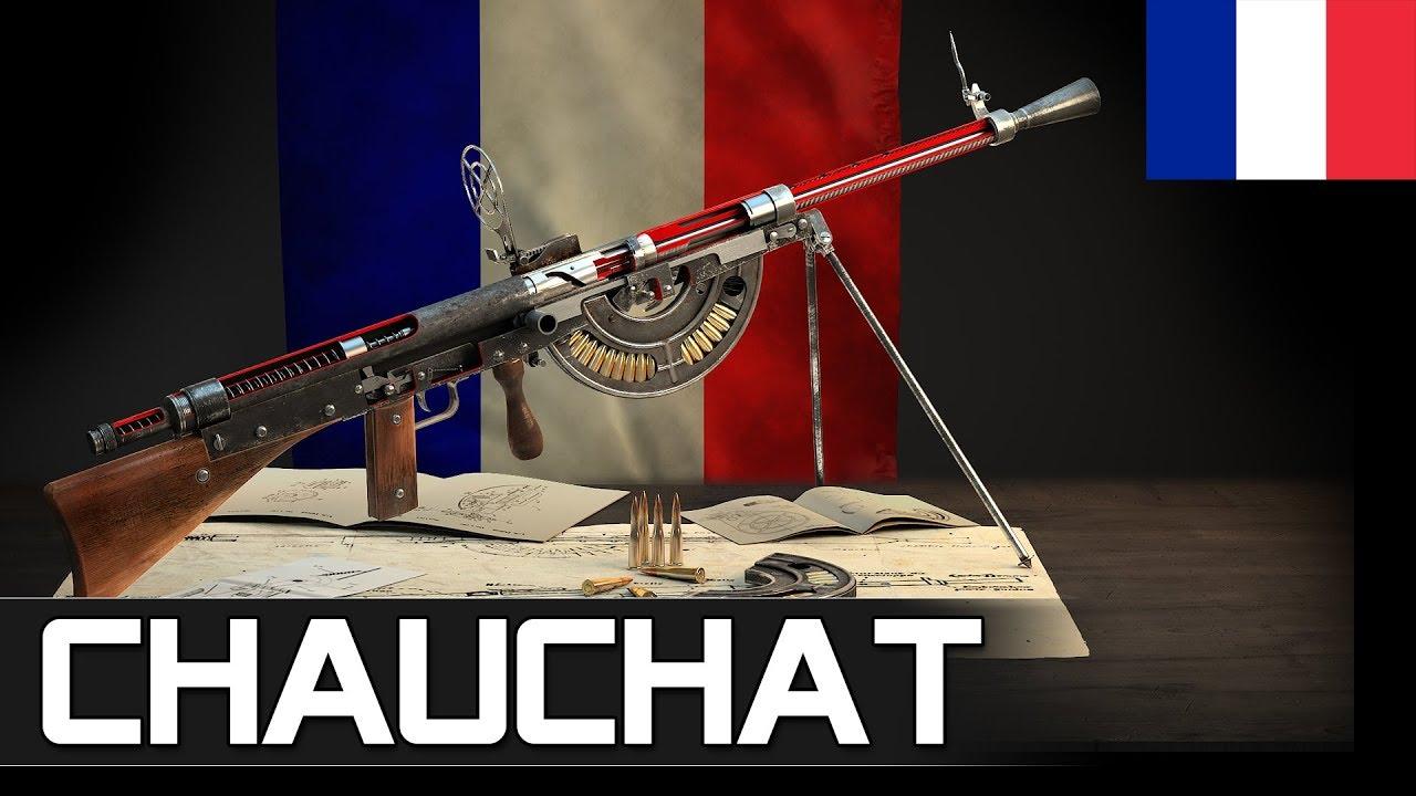 How Chauchat light machine gun works