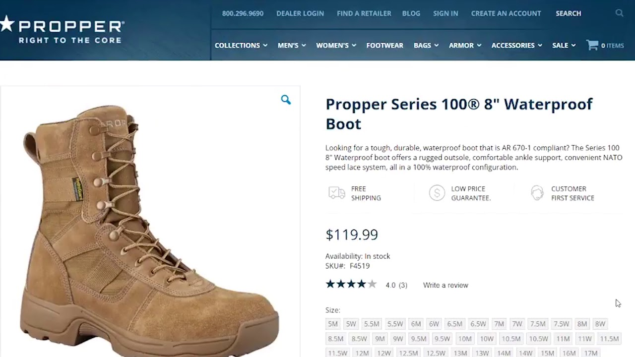 M-W Tactical Product Review - Propper Series 100 Boot
