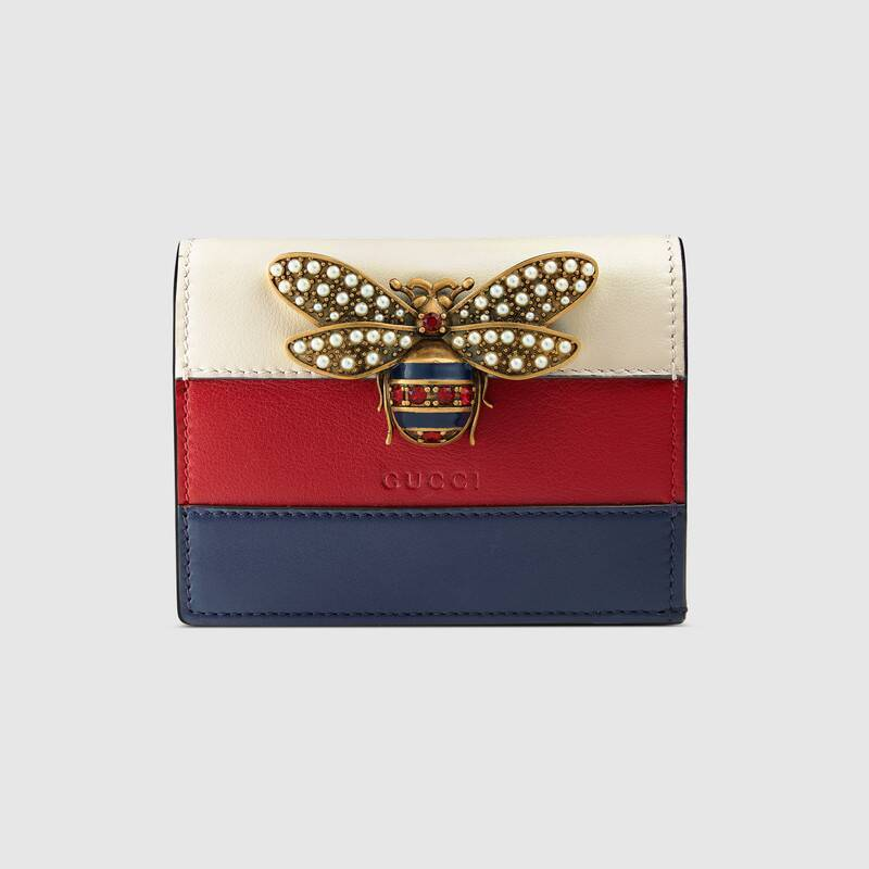 Gucci Queen Margaret Leather Card Case Wallet Style Z476072 DYWPT 4160