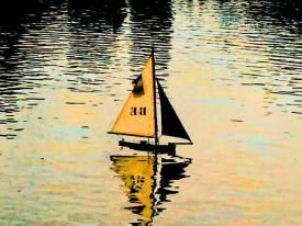 Little wooden sailboat, Luxembourg Gardens