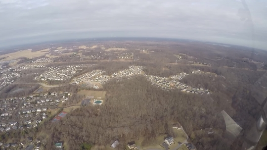 Areal view of Annapolis, MD, USA